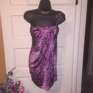 bebe Dresses - Bebe silky with a built in bra snakeskin print
